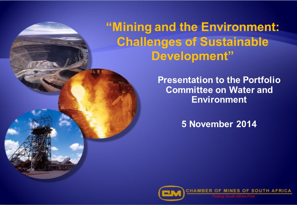 Mining and the Environment: Challenges of Sustainable Development