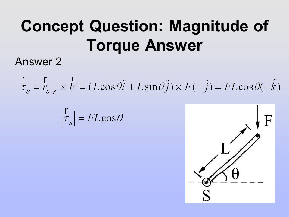 Concept Question: Magnitude of Torque Answer