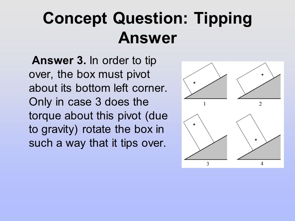 Concept Question: Tipping Answer