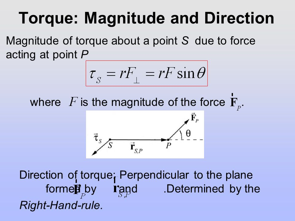 Torque: Magnitude and Direction