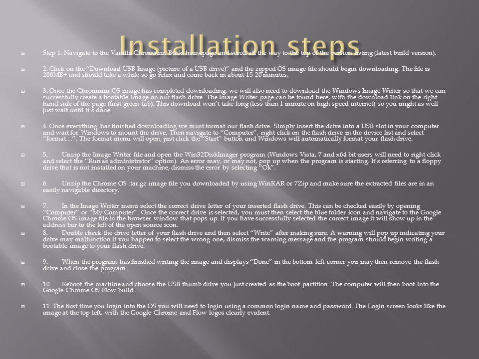 Installation steps