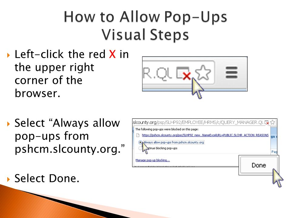 How to Allow Pop-Ups Visual Steps