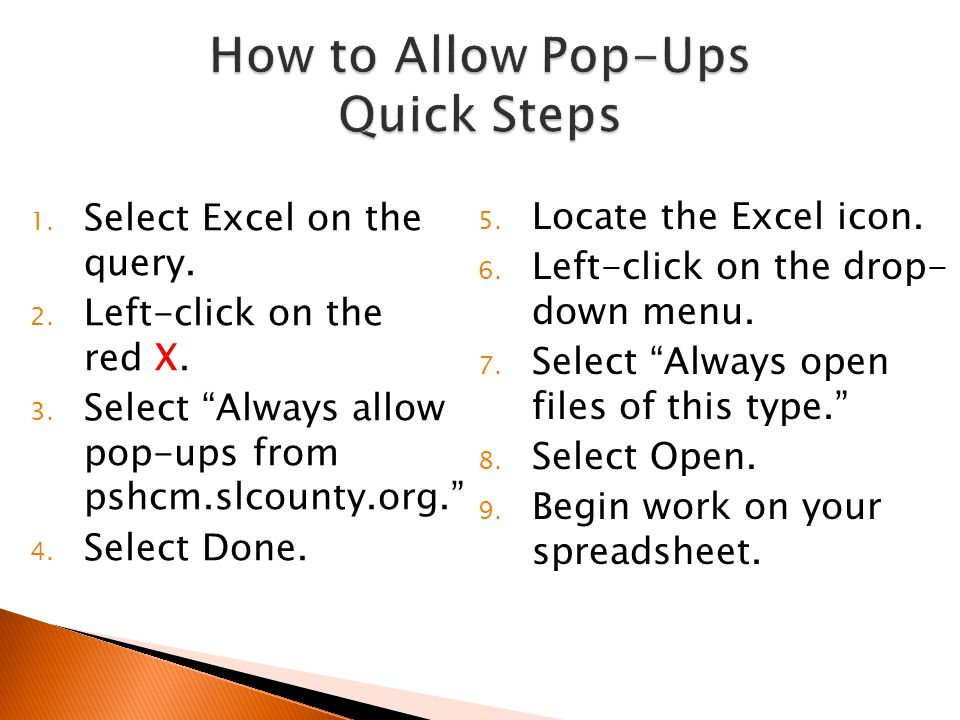 How to Allow Pop-Ups Quick Steps