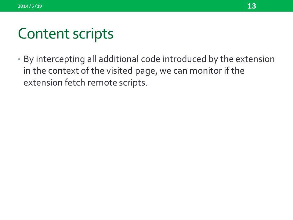 2014/5/19 Content scripts.