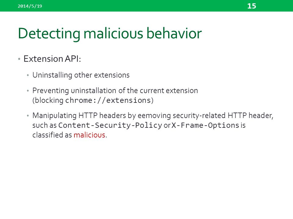Detecting malicious behavior