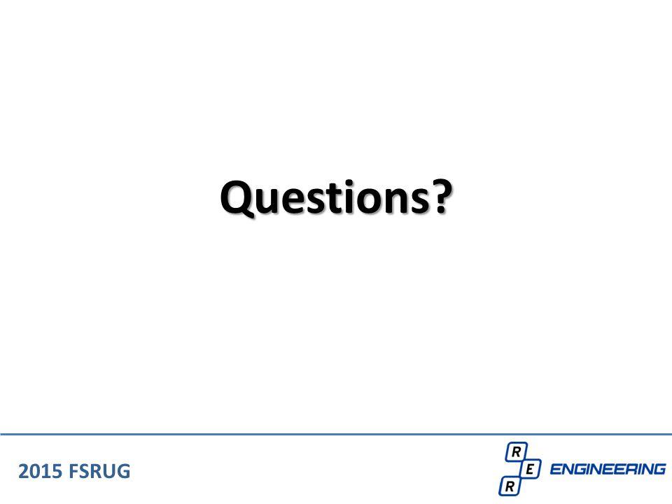 Questions 2015 FSRUG