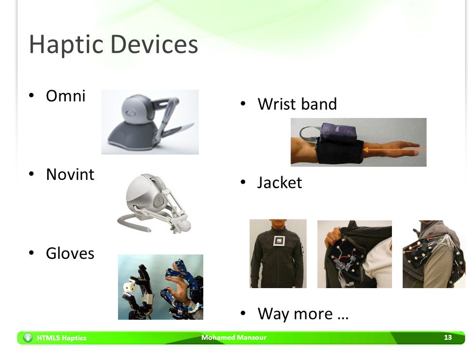 Haptic Devices Omni Wrist band Novint Jacket Gloves Way more …