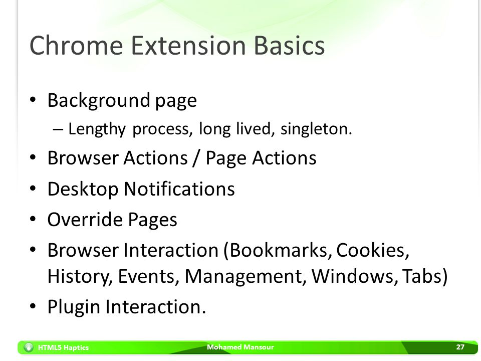Chrome Extension Basics
