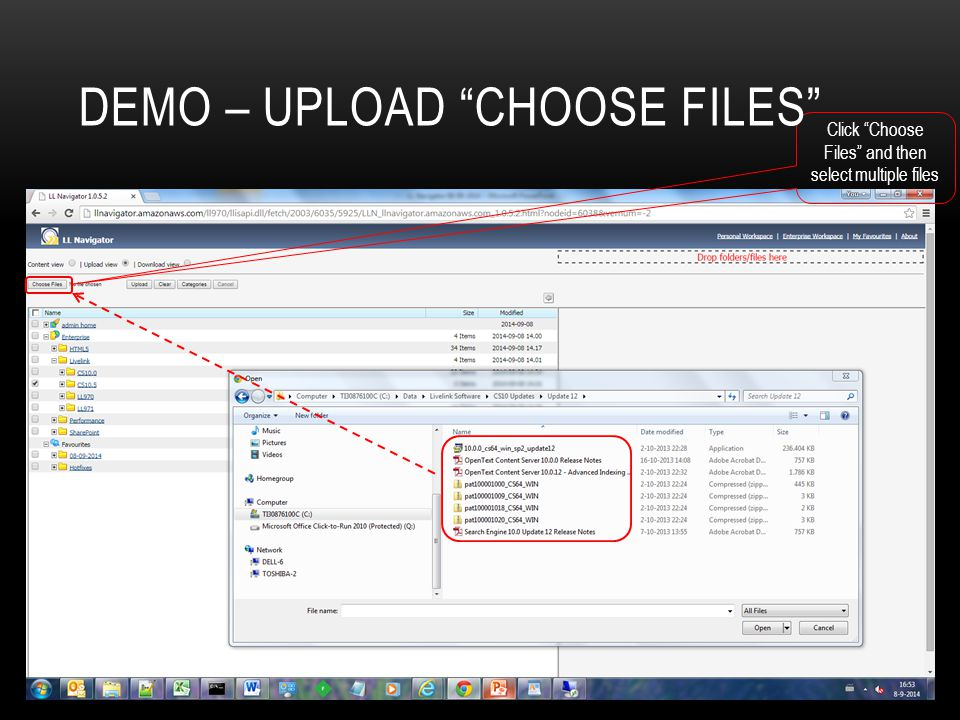Demo – Upload choose files