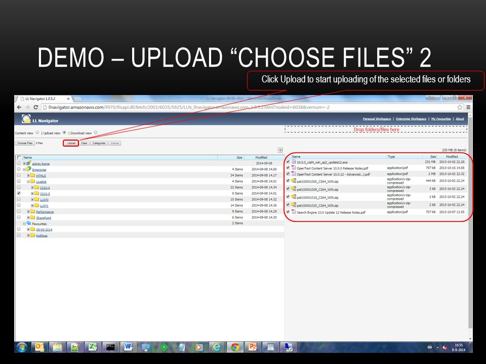 Demo – Upload choose files 2