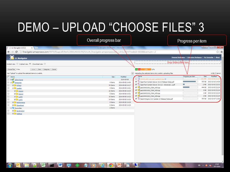 Demo – Upload choose files 3