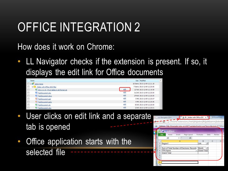 Office integration 2 How does it work on Chrome: