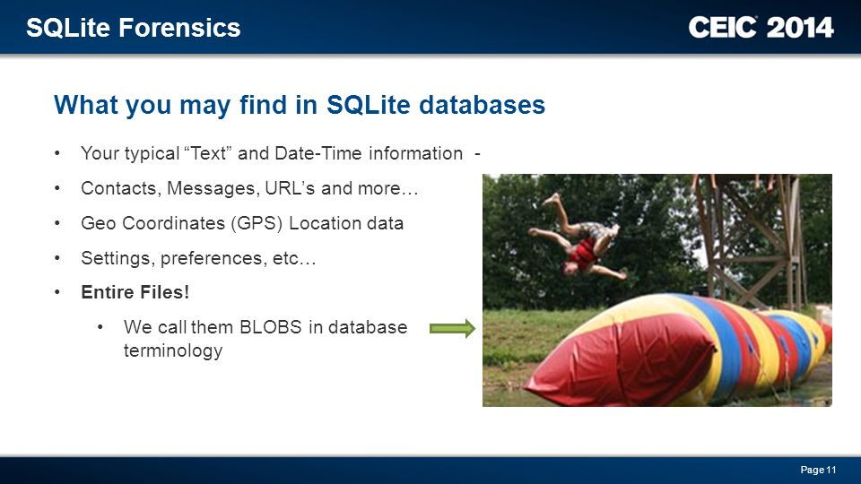 What you may find in SQLite databases