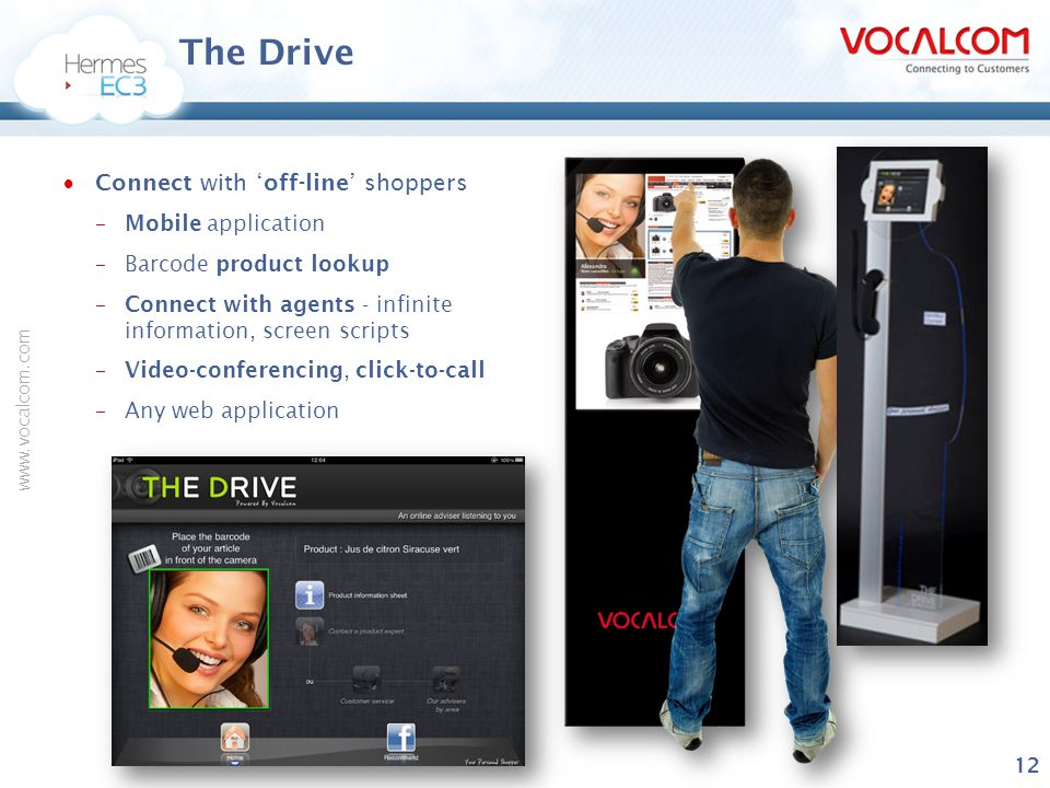 The Drive Connect with 'off-line' shoppers Mobile application