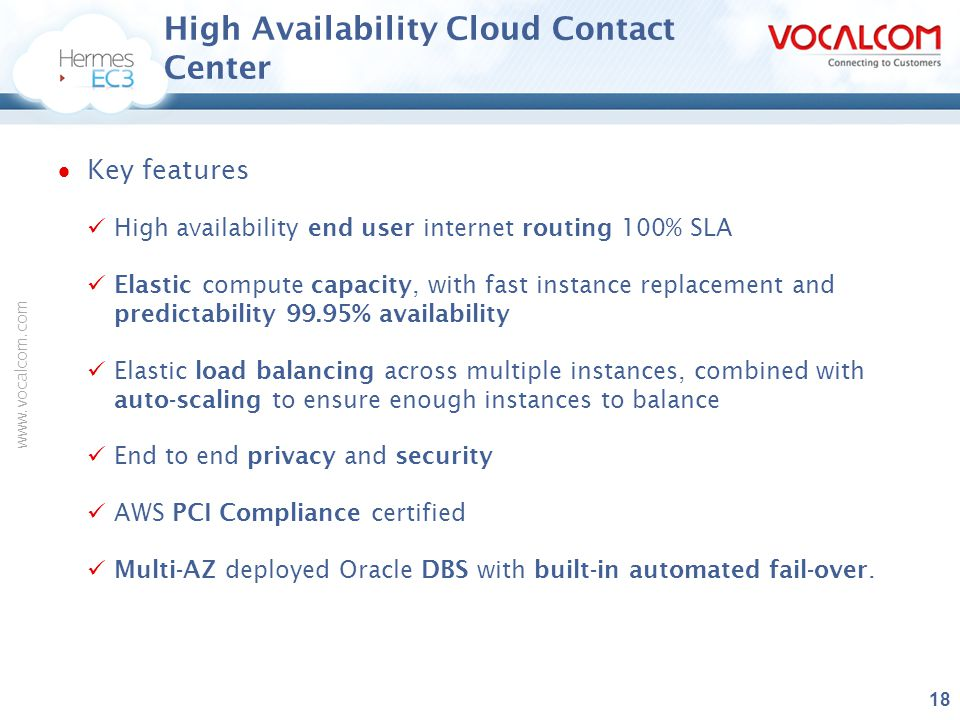 High Availability Cloud Contact Center