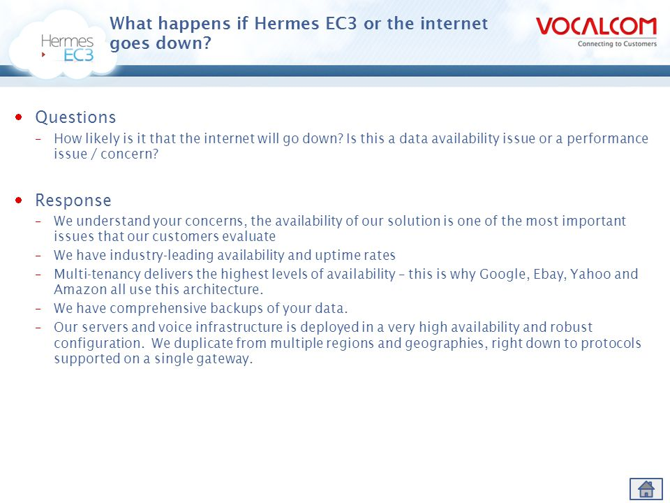 What happens if Hermes EC3 or the internet goes down