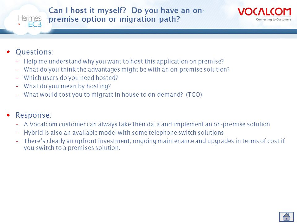Can I host it myself Do you have an on-premise option or migration path