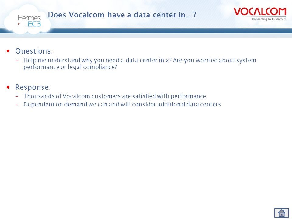 Does Vocalcom have a data center in…