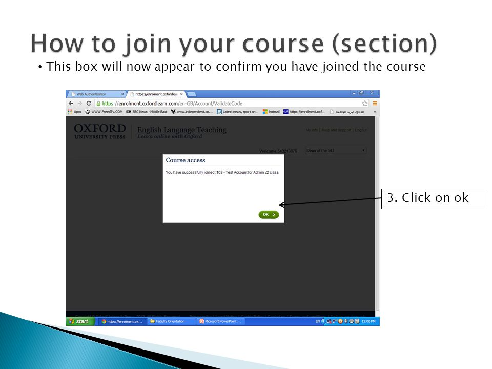 How to join your course (section)