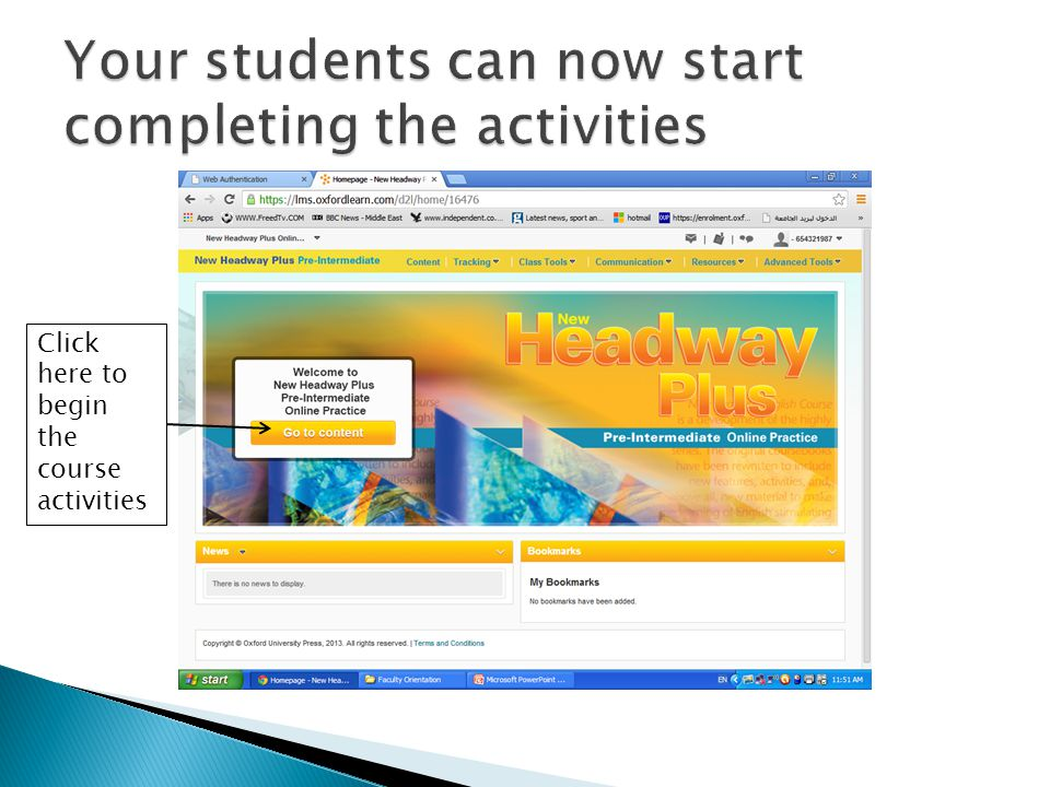 Your students can now start completing the activities