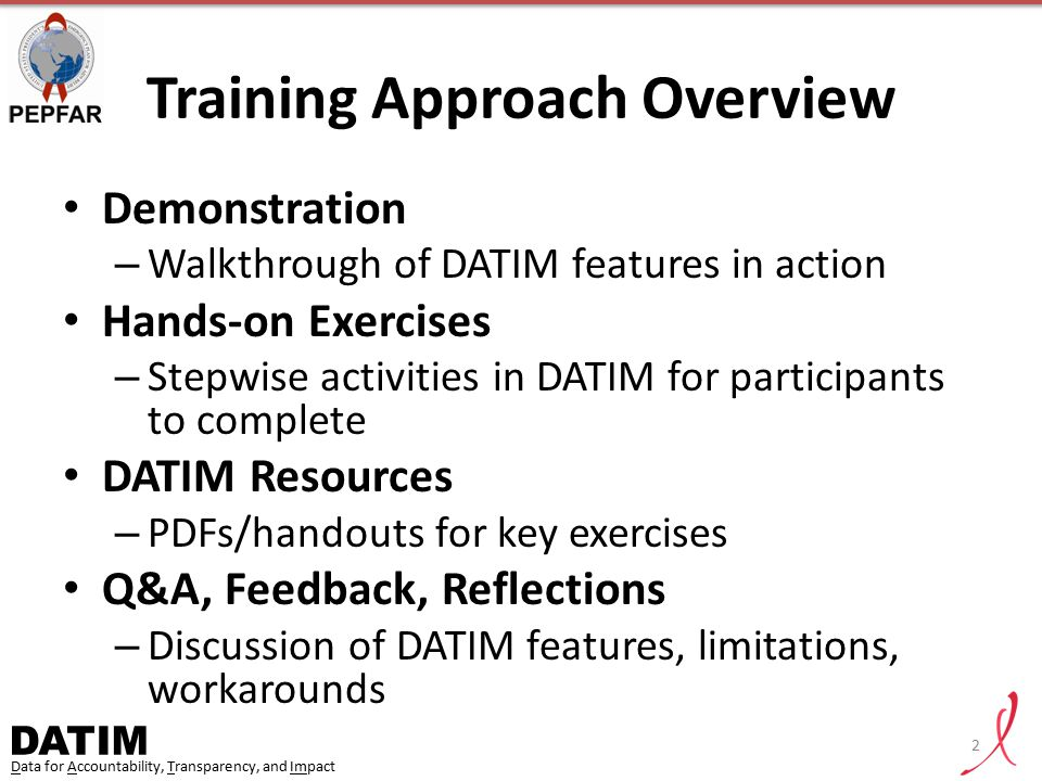 Training Approach Overview