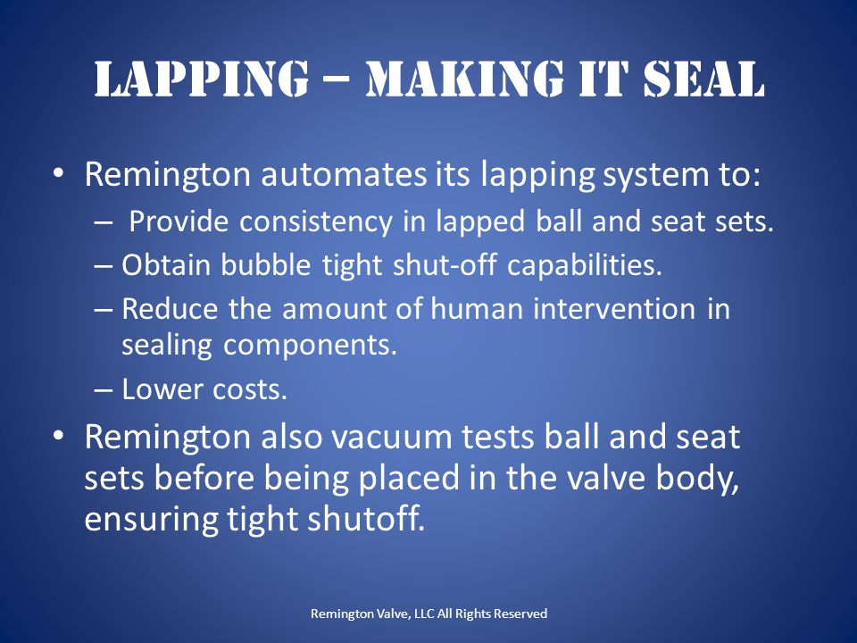 Lapping – Making it Seal
