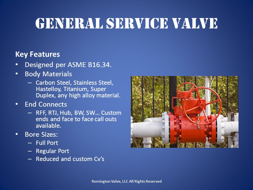 Remington Valve, LLC All Rights Reserved