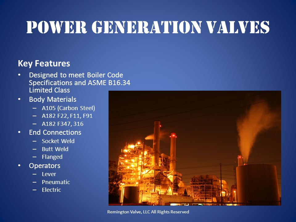 Power Generation Valves