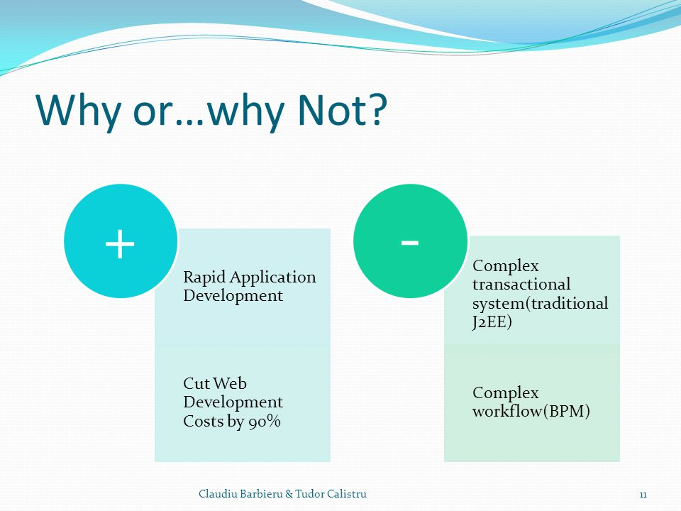 + - Why or…why Not Rapid Application Development