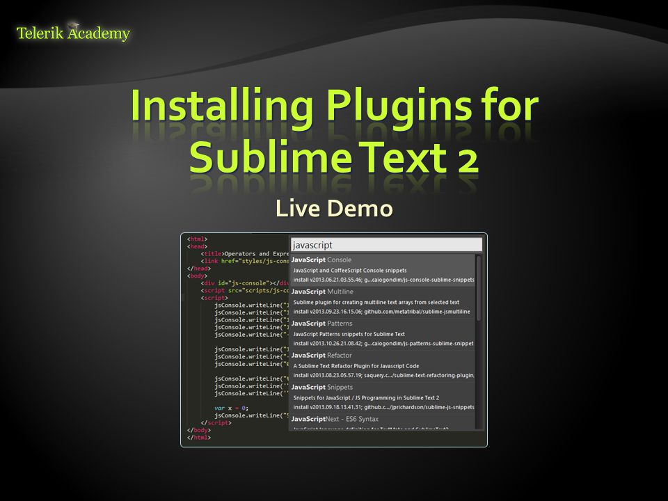 Installing Plugins for Sublime Text 2