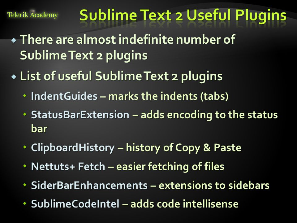 Sublime Text 2 Useful Plugins
