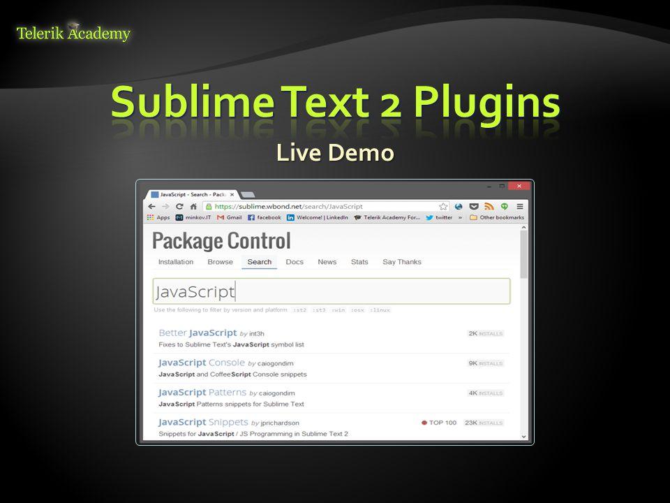 Sublime Text 2 Plugins Live Demo