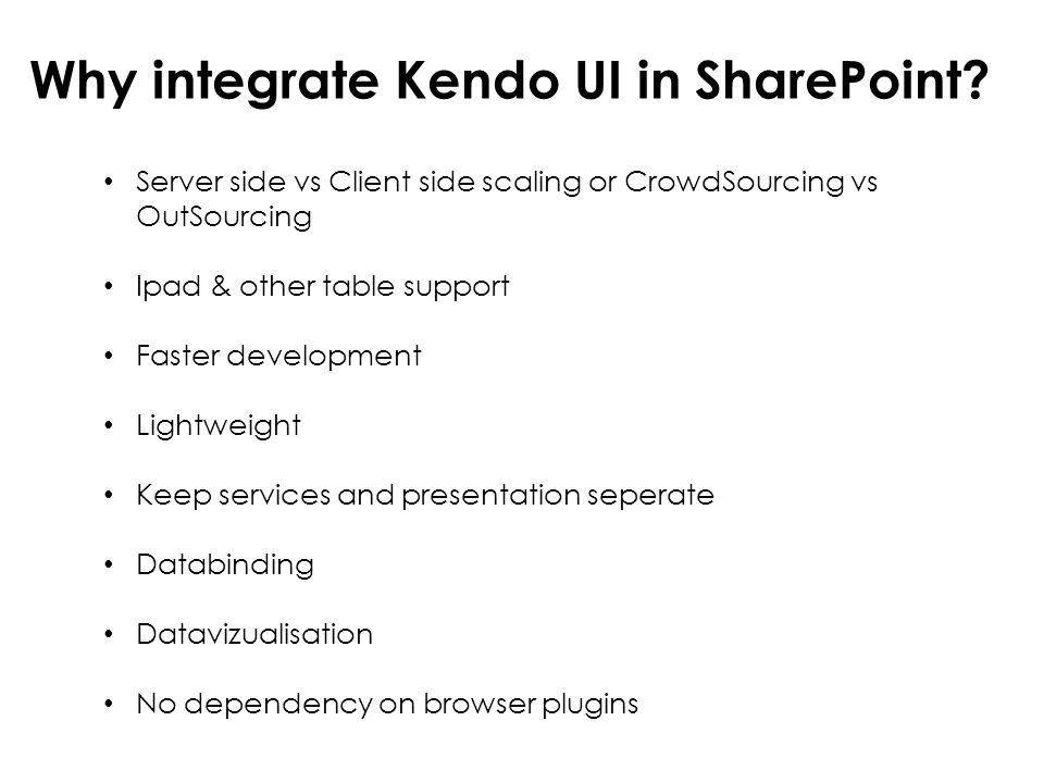 Why integrate Kendo UI in SharePoint