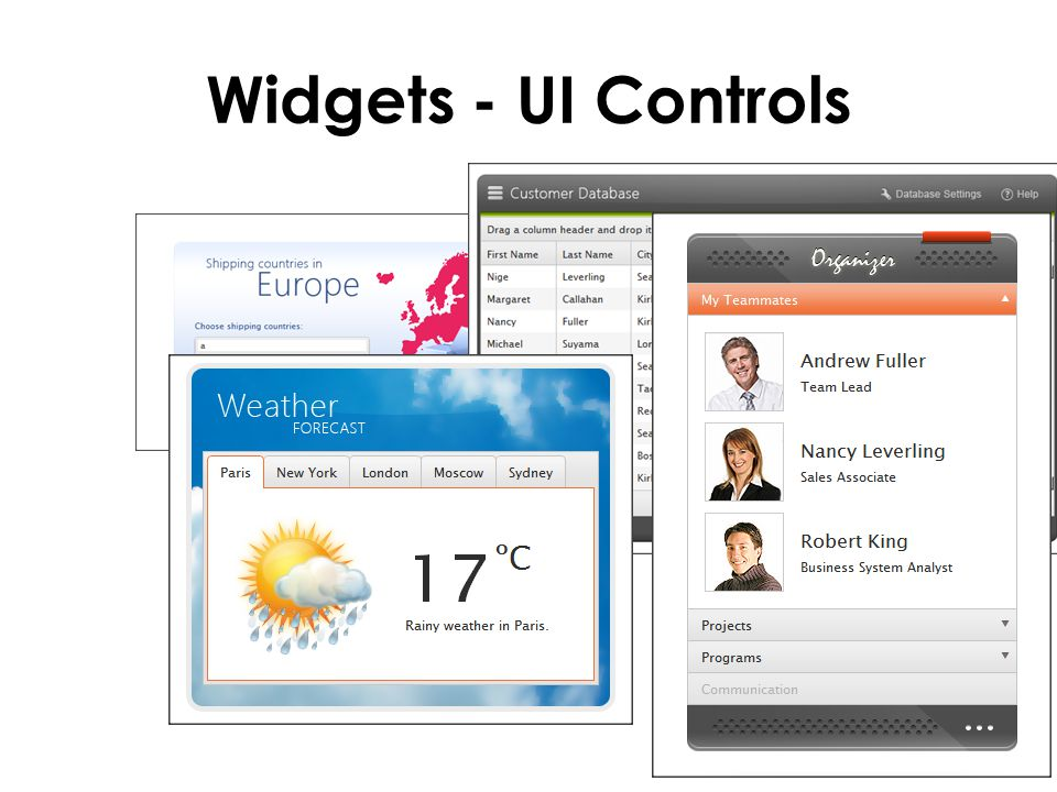 Widgets - UI Controls