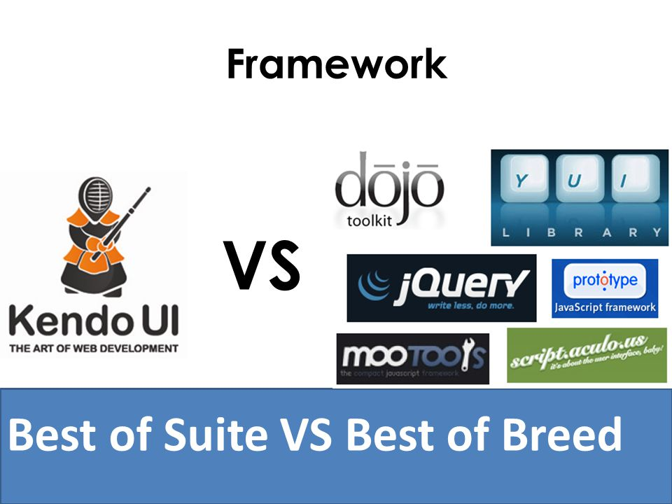 Framework VS Best of Suite VS Best of Breed