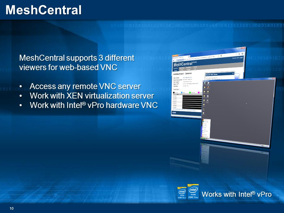 MeshCentral supports 3 different viewers for web-based VNC