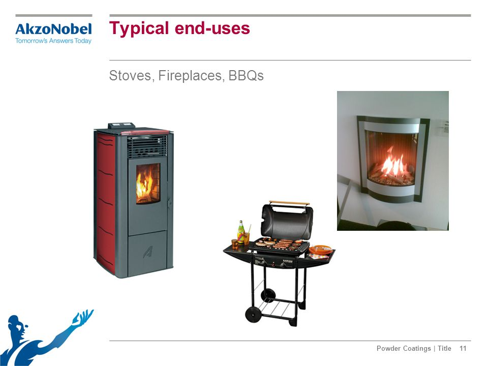 Typical end-uses Stoves, Fireplaces, BBQs Powder Coatings | Title