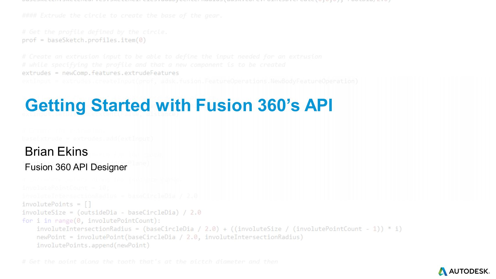 Getting Started with Fusion 360's API