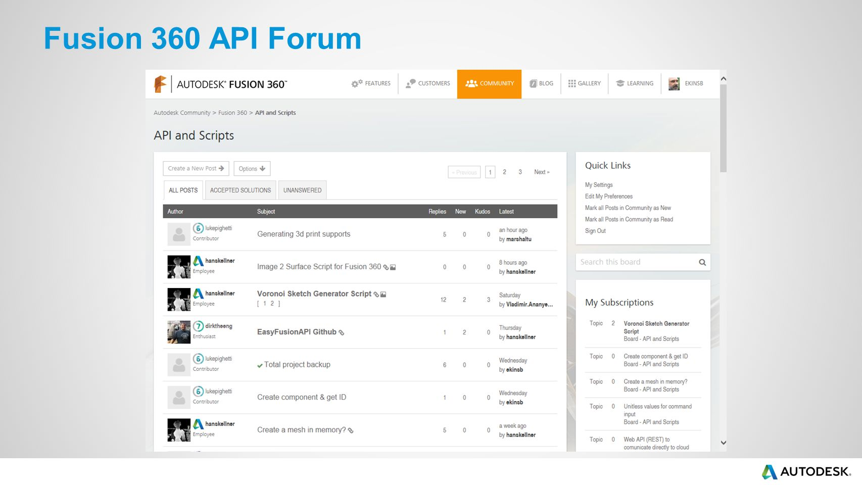 Fusion 360 API Forum