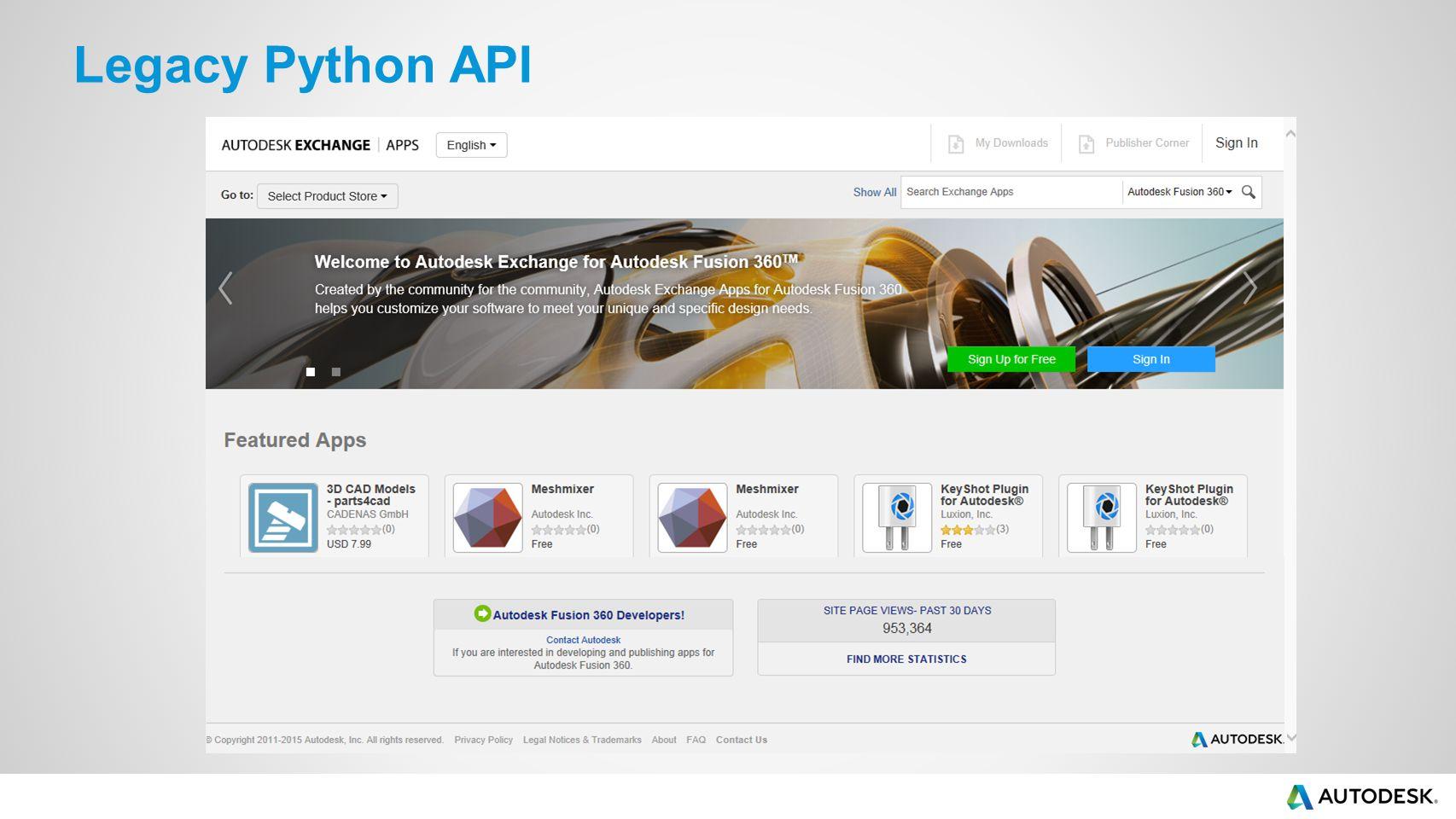 Legacy Python API