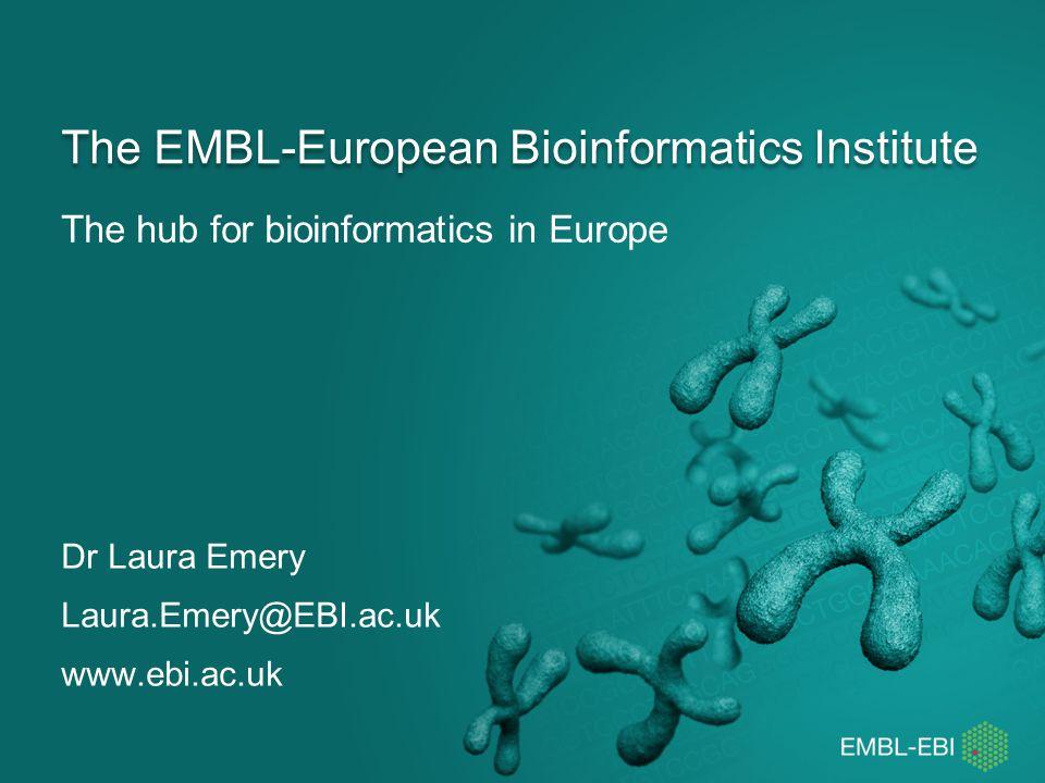 The EMBL-European Bioinformatics Institute