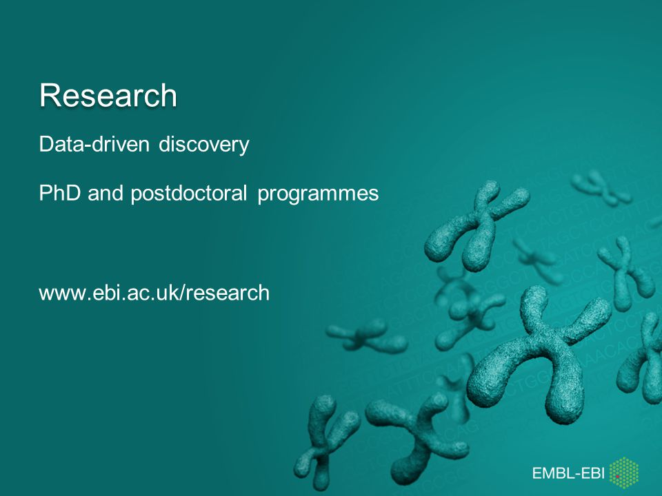 Data-driven discovery PhD and postdoctoral programmes
