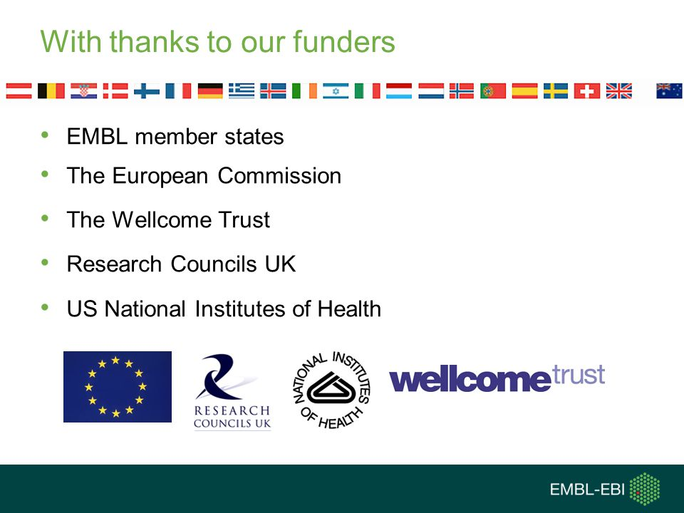 With thanks to our funders