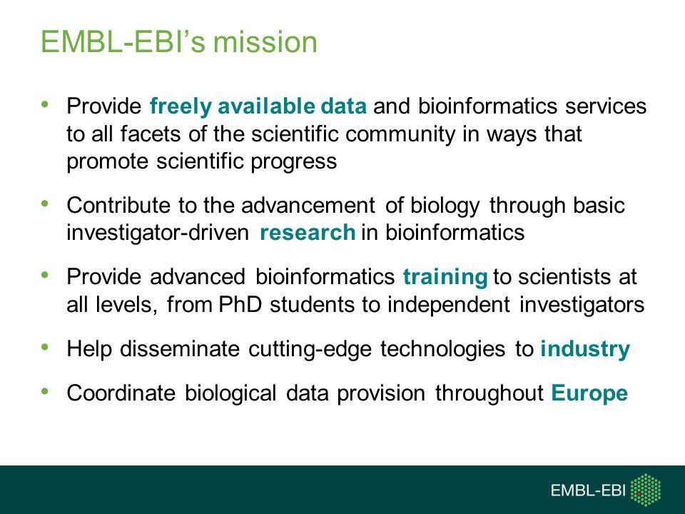 EMBL-EBI's mission