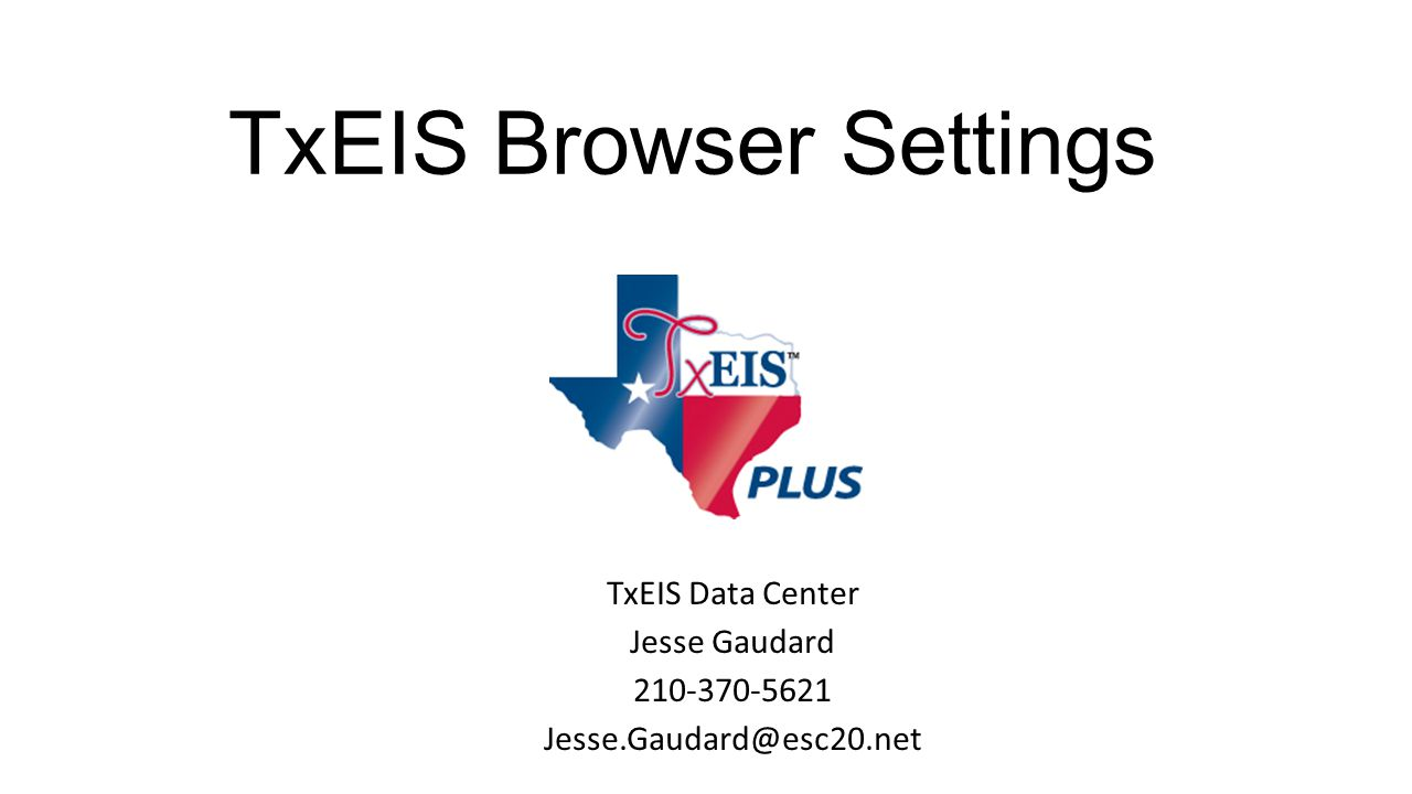 TxEIS Browser Settings