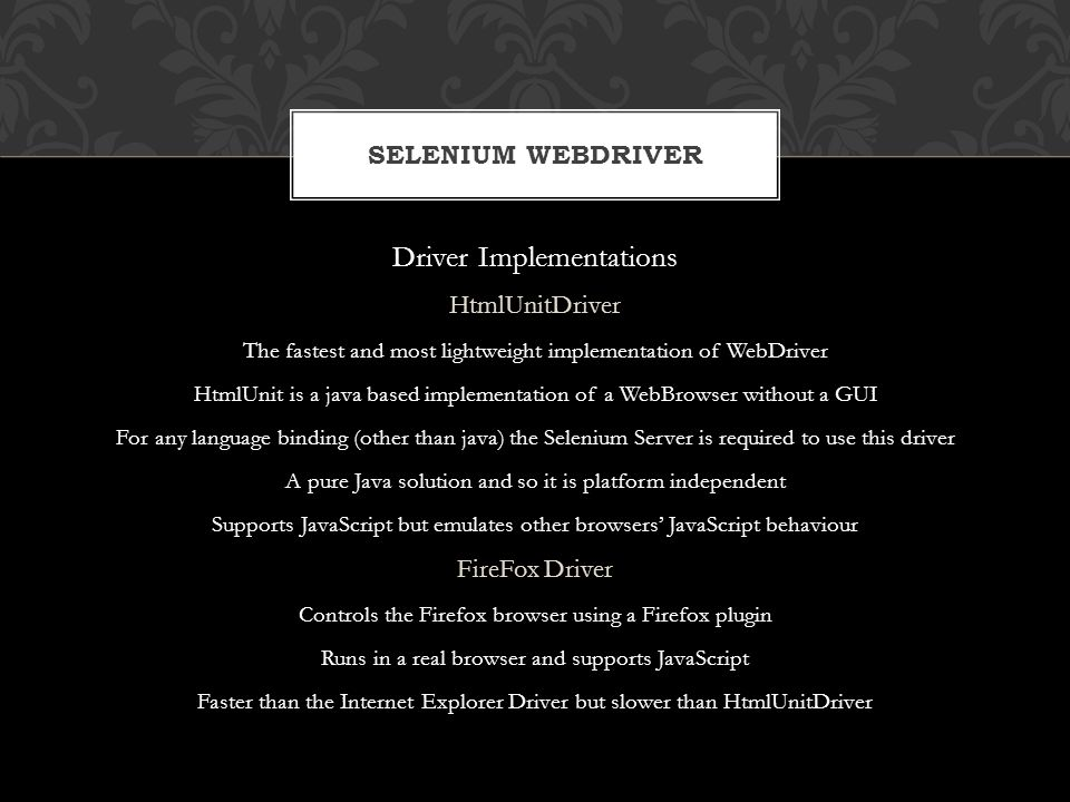 Driver Implementations