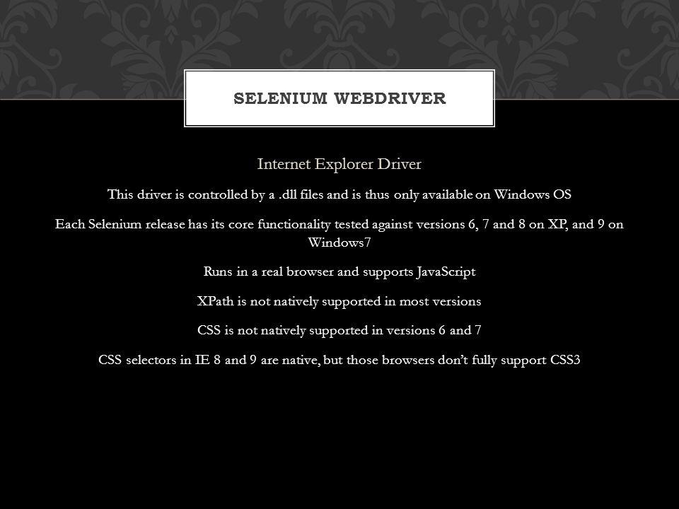 Internet Explorer Driver