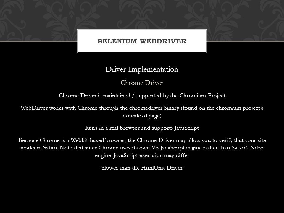 Driver Implementation