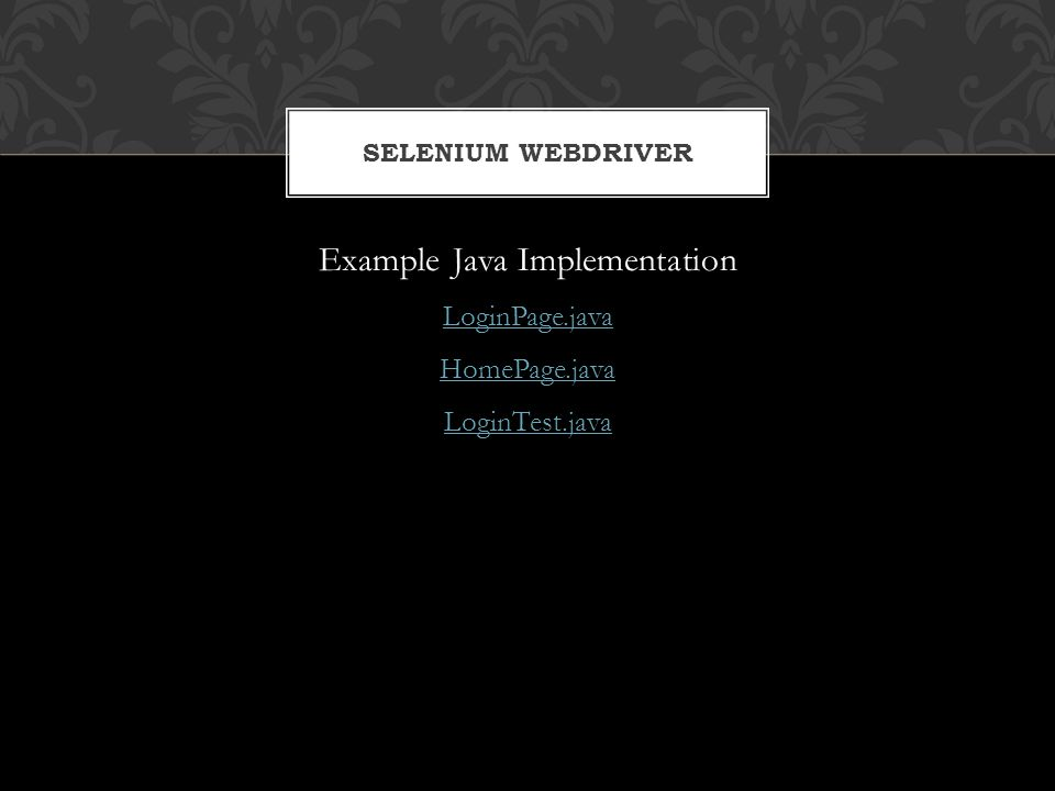 Example Java Implementation