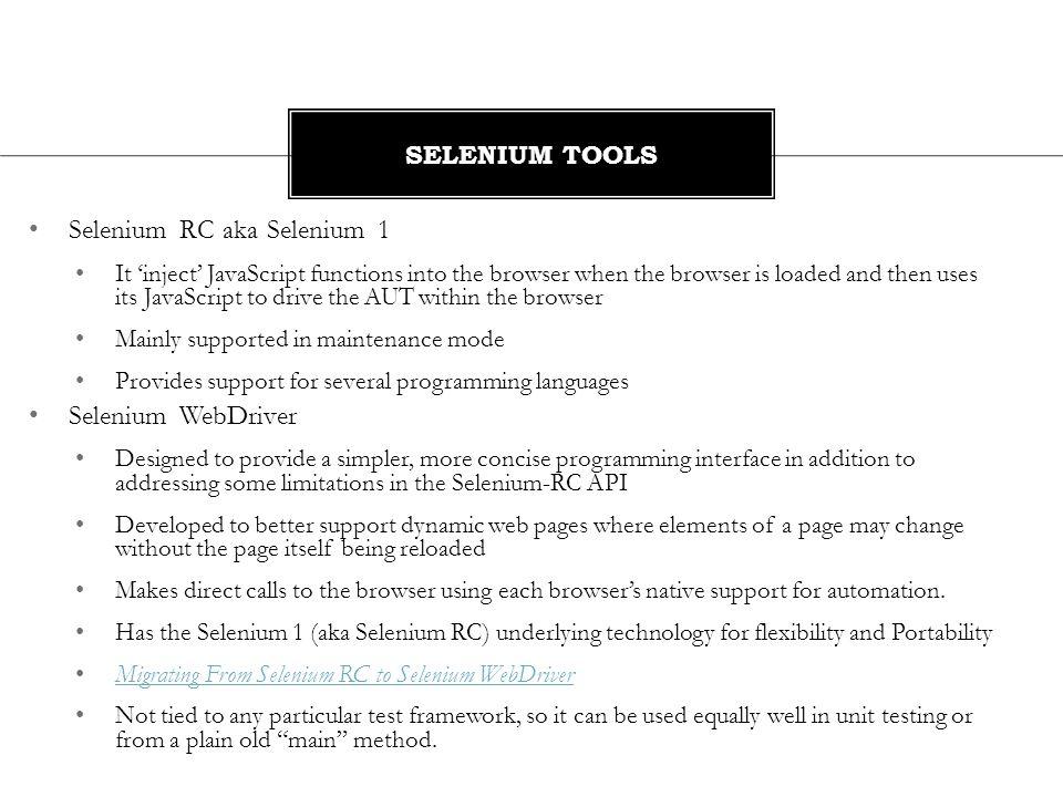 Selenium RC aka Selenium 1